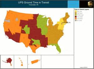 UPS Ground Shipping Map