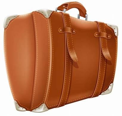 Suitcase Transparent Clipart Brown Travel Suitcases Clip