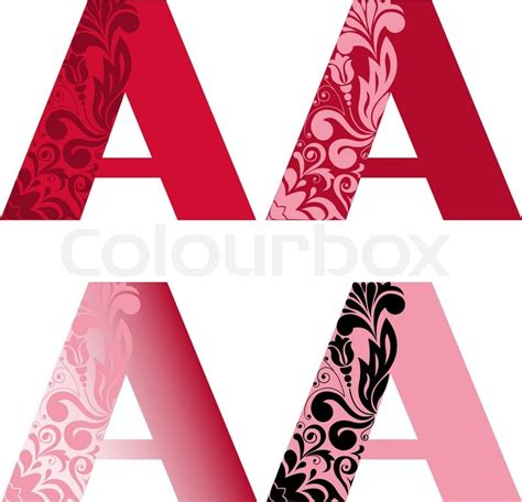four letter colors a set of four letters a different color other letters 15264