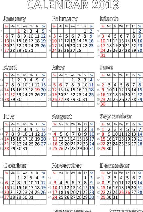 calendar printable uk printable