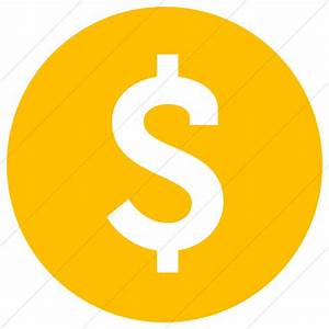 Raphael Dollar Sign Icon » Style: Simple Yellow