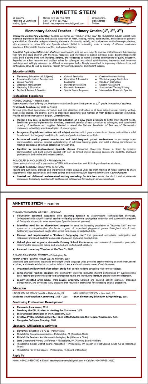 elementary resume template word bongdaao