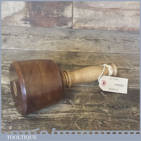 lignum vitae wood turned carving mallet  maple