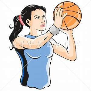 Basketball Players Shooting Clipart (38+)