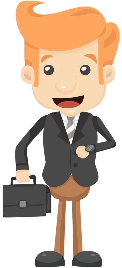 cartoon businessman     handbag