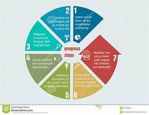 Circular Progress Steps Stock Vector  Illustration Of