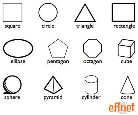 shapes worksheets eflnet efl esl vocabulary
