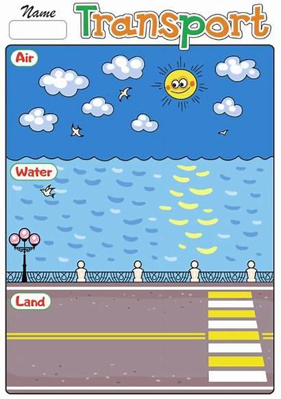 Transportation Land Air Water Worksheet Worksheets Activities