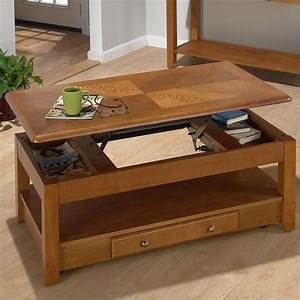 480 Series Wood Lift-Top Cocktail / Coffee Table in Oak