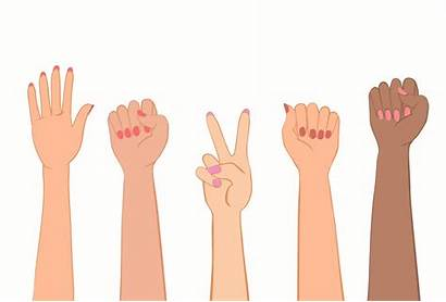 Hands Nails Fist Protest Symbol Feminist Womens