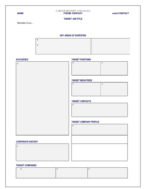 Blank Profile Template Networking Template Blank