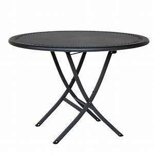 Best table de jardin ronde pliante images awesome for Table jardin metal ronde pliante