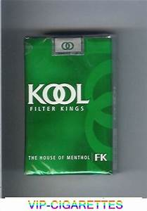 Kool Filter Kings The House of Menthol cigarettes soft box ...