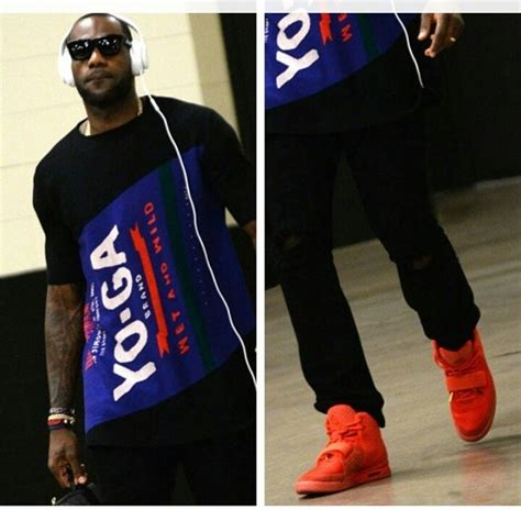 style lebron james air yeezy  red october sneakers
