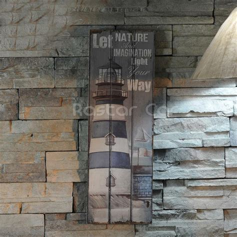 nautical decor rustic sign plaque wall art picture lighthouse design b ebay