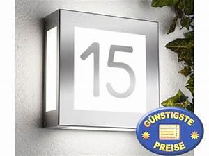 Außenleuchte Mit Hausnummer : cenator au enleuchte edelstahl mit hausnummer cenator cm 20 ~ Buech-reservation.com Haus und Dekorationen