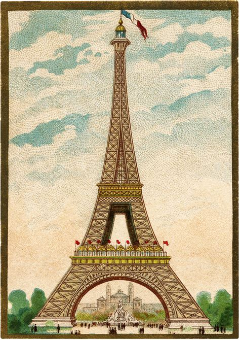 fantastic colorful vintage eiffel tower image