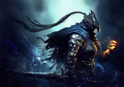 Artorias Abysswalker Souls Dark Knight Fantasy Artwork