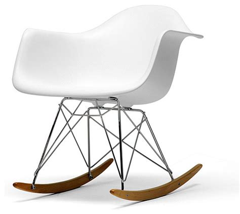 vinnie white cradle chair modern rocking chairs by