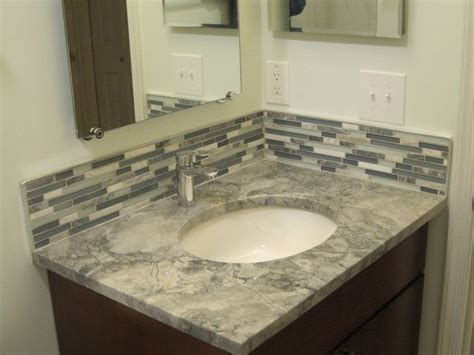 bathroom vanity backsplash ideas 4 quot backsplash vanity master bathroom ideas in