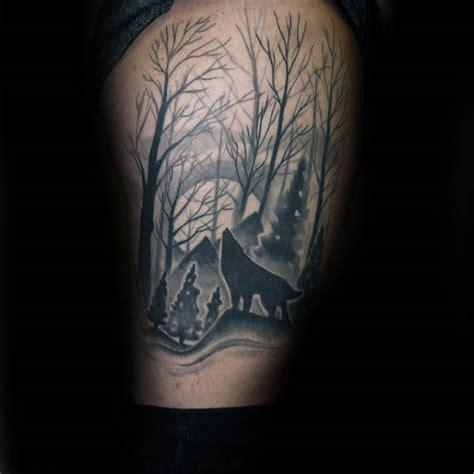 silhouette tattoo designs  men shadowy illustration