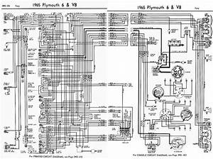 Plymouth 6 And V8 Fury 1965 Complete Wiring Diagram