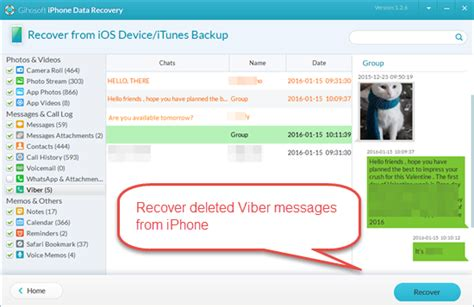 recover messages on iphone how to restore viber messages on iphone for free