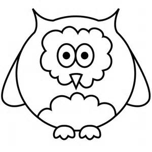 Simple Owl Coloring Pages