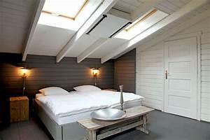 chambre sous toit sobriete et fantaisie pour une maison With chambre sous pente de toit
