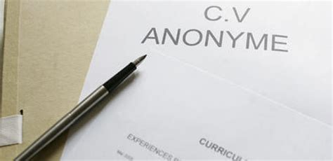 si鑒e du medef adresse mon avis sur le cv anonyme vozzavi