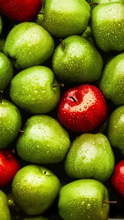 Green Red Apples iPhone 6 Plus HD Wallpaper | Fruit ...