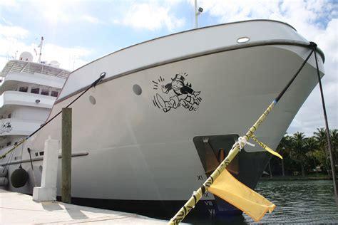 Kraken Boat Graphics by Artist Alec Basel Miami Custom Yacht Vinyl Graphics