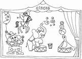 Circus Coloring Drawings Drawing Sketch Template Printablecolouringpages Larger Credit sketch template