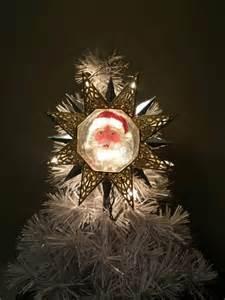 lighted santa star christmas tree topper retro