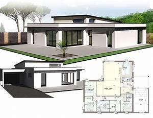 Maison Architecte Plain Pied : style d 39 architecture maison plain pied kermor habitat ~ Melissatoandfro.com Idées de Décoration