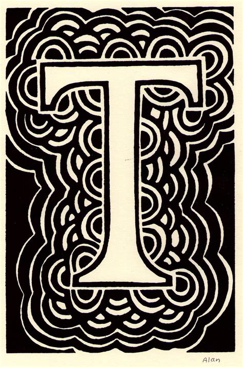 letter t in different fonts 061 capital letter t linocut by baggelboy baggelboy