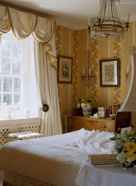 cottage style wallpaper soft yellow and white cottage bedroom with