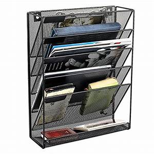samstar hanging wall file organizer 5 slot mesh metal With document organizer for home