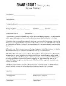 wedding photography contract contract shane harder photography