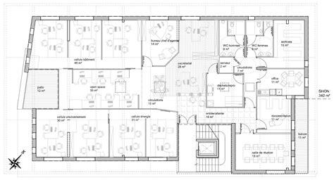 bureau plan immeuble de bureau solécité scop d 39 architecture