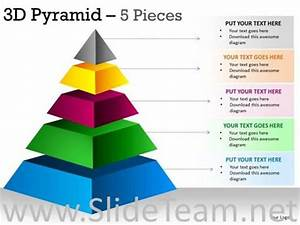 5 Pieces Pyramid Structure Shows Hierarchy
