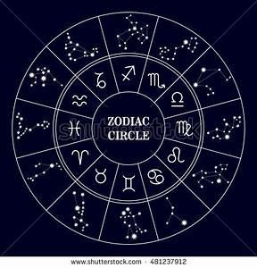 Zodiac Constellations Leo Virgo Scorpio Libra Stock Vector ...