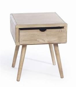 Table De Chevet Bois : table de chevet en bois 1 tiroir ~ Teatrodelosmanantiales.com Idées de Décoration