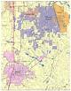 Warner Robins Digital Vector Maps - Download Editable ...