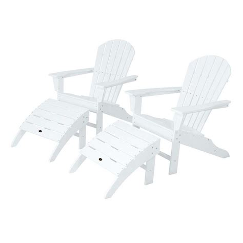 polywood south white patio adirondack chair 2 pack