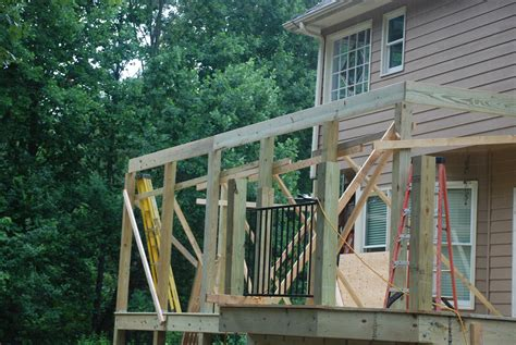 how to build a deck with roof how to build a shed roof over a deck decks com