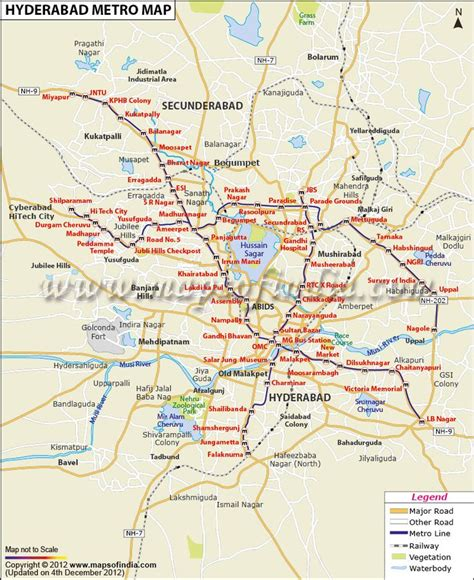 hyderabad metro map railway maps pinterest