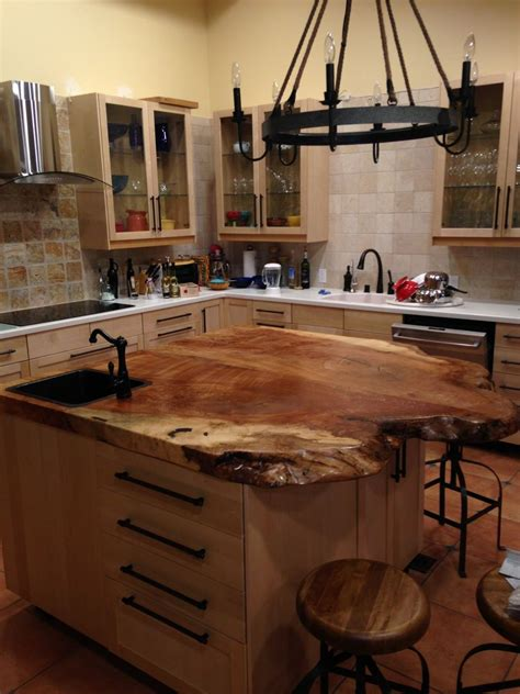 spalted maple top   kitchen island   kitchen