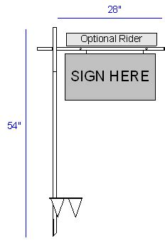 Real Estate Sign Posts And Stakes Made Of Metal Or Tough