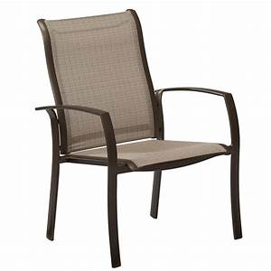 Hampton, Bay, Brown, Stackable, Commercial, Grade, Aluminum, Outdoor, Patio, Dining, Chair, In, Sunbrella